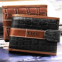 Crocodile grain Men wallets Money clip wallets Zippers buckles 2014 new arrived billfold purse Soft leather card bag