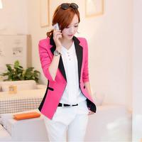 New 2014 blazer autumn casacos femininos Basic Jackets Korean women coats Slim womens blazers and jackets blaser feminino