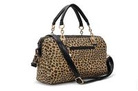 Free  shipping  famous brand designer high quality sequined leopard print women handbag carteras bolsas  sac a main