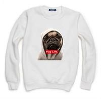 Pug Life Dog Sweatshirt For Women Men Hoodies Lady Casual Hoody Pullover Moleton Feminino XL ZY053-08