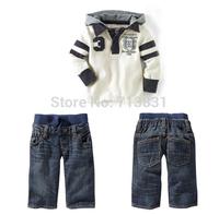 122 retail autumn baby boy's 2pcs suit sets kids Children's sport tracksuit sets casual long sleeve hoody jackets+trousers pants