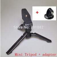 GOPRO Kit 2in1 Tripods Hand Pistol Grip Mini Travel Tripod Stand+gopro Mount Holder for Gopro Hero1/ 2/3/3+ free shipping