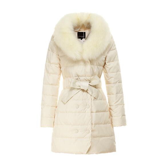 New 2014 winter women thicken down coat warm long fur coat slim down cotton padded women parka coat women down jacket W658(China (Mainland))