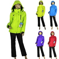 Sports Suit Cardigans 5 Colors Women Winter Outdoor Thick Thermal Sports Wear Ski Suit Coat Jackets + Pants 2pc free Shipping