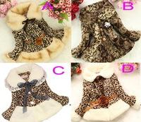 Leopard Girls faux fur coat Autumn/Winter Clothes Children Kids Toddler children's Sweet flower outerwear jacket Warm clothing