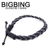 BigBing  jewelry fashion Leather Rope Bracelet chain charm bracelet fashion jewelry nickel free b467