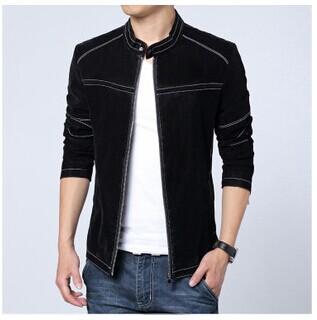 New M-6XL Men Leather Jacket Scrub PU Leather Slim Suede Jacket Men's Leather High Quality Large Size Male Jackets Coat(China (Mainland))