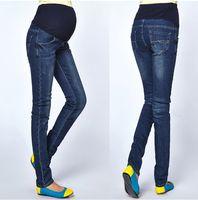 2014 New Maternity Jeans Pants For Pregnant Women Plus Size Clothing Pregnancy Clothes Motherhood denim pants YFZ 001