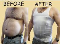 1pc/lot Men Firm Tummy Belly Buster Vest Control Slimming Body Shaper Underwear Shirt Body Shaper EJ870648