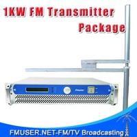 FSN-1000-1000W 1KW Power Adjustable FM Transmitter  + FU-DV2 Dipole Antenna + 30m 1/2'' Cable