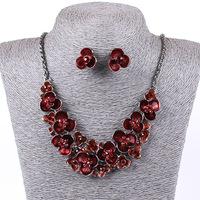 2014 Fashion Elegant  jewelry  Flower Luxury Necklace Set QDTRT