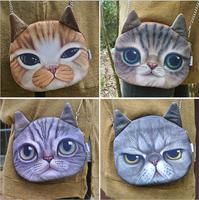 Fashion women messenger bag cat shoulder bag lovely inclined shoulder bag woman's handbag 180 g  23 * 22 cm