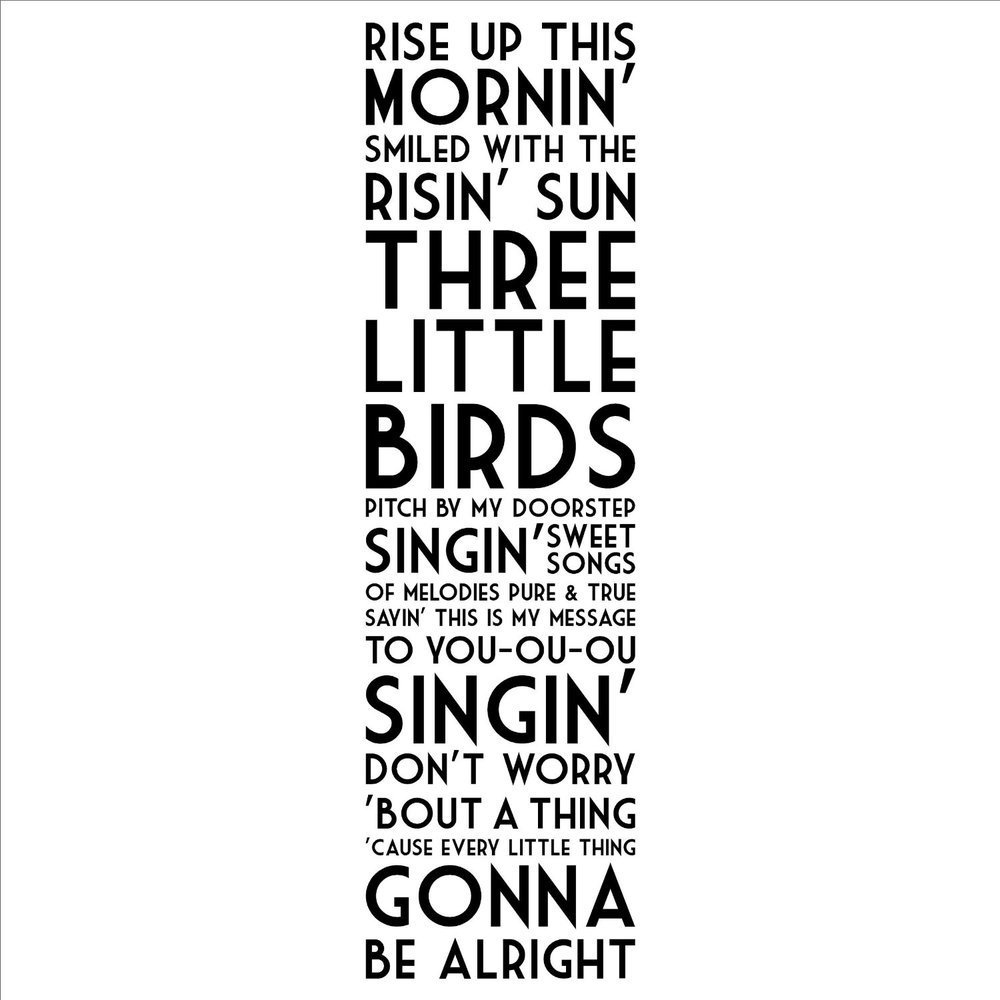 Little Birds wall sayings