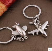 Package mail delicate small plane key creative key chain car key ring key pendant model plane