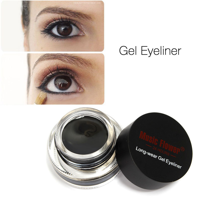 Gel Eyeliner by Music Flower Water-proof And Smudge-proof Cosmetics Set Eye Liner Kit in Eye Makeup