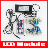 Led Christmas Lights RGB 7m 50led+ 44key Remote Controller + DC 5V 3A Power Adapter 2 sets/lot Free Shipping