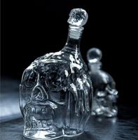 New!! 1 piece/lot 650ml Zombie Head Decanter Bottle/ Zombie Wine Glass Bottle,Skull Wine Bottle in Retail Box