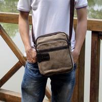 hot sale men small messenger bags canvas korean style fashion handbags best school bag for boy