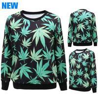 2014 Autumn Women Sport Suit Print Casual Hoody Black Milk Tracksuit Printed Hoodies Sweatshirt