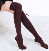 5pairs/lot Candy Lady's knee high stocking women winter warm tights highs leg warmer free shipping