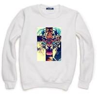 Galaxy Cross Tiger Print Sweatshirt For Women Men Casual Hoody Pullover Moleton Feminino XL ZY053-38