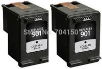 2piece Black Inkjet Cartridge for hp901  901XL CC653AN for hp Officejet 4500 4600 J4550 J4580 J4680