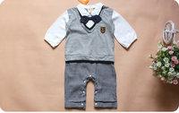 4pcs/lot wholeale long sleeve romper boy baby clothes ,bodysuit infant clothes ,baby clothes