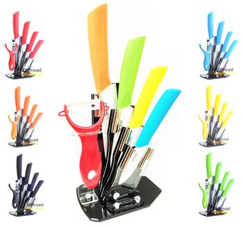 """3 """" 4 """" 5 """" 6 """" керамические ножи комплект комплект + овощечистка + держатель, фрукты резьба инструменты, кухня керамические нож 8 цвета можно выбрать"""