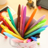 [Uoopai] Special Offer Gel Pen Microfiber Highlighter Gel Ink Pen 0.5 mm Korea School Supplies Stationery Cute Kawaii