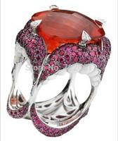 Se7en Gluttony  rings for women sapphire  sterling silver jewelry