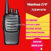 2pcs a pair 2W UHF 16 channels two-way radios portable walkie talkie
