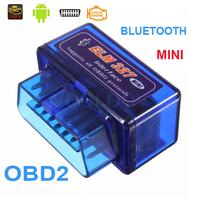 Universal Super Mini ELM327 Bluetooth OBD OBD2 V2.1 mini elm 327 bluetooth for Android Torque work with ELM 327 Car Code Scanner