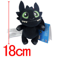 18cm Toothless Night Fury Plush Doll How to Train Your Dragon 2 Stuffed Animals & Plush Brinquedos Boneca Pelucia  Action Figure