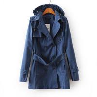 2014 Brand Trench Coat Women OL Wild Jaqueta Fall Coat Autumn Coat Khaki Trench Coat For Women Windbreaker Manteau Femme