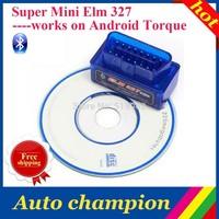 2014 super Professtinal OBD II obd 2 Scanner tool free ship Super mini ELM 327 mini 327 bluetooth elm327 works on Android Torque
