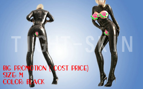 Sexy women erotic latex catsuit w/gloves and socks nightclub wear high quality at cost price(China (Mainland))