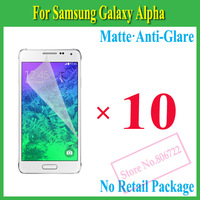 Matte Anti-Glare Anti Glare Screen Protector Protection Guard Film For Samsung Galaxy Alpha G850F,No Retail Package+10Pcs