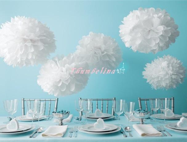 10inch 25cm Paper Pom-pom. Wedding Decoration Tissue Paper Pom Poms. Party decor artificial paper flowers.Wedding car decoration(China (Mainland))