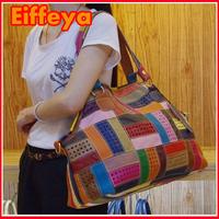 New 2015 Fashion Brand Designer Handbags Women Messenger Bags Vintage Elegant Plaid Shoulder Tote Free shipping