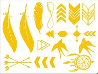 Metallic Gold & Silver Temporary Jewelry Tattoos