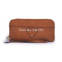 2014 fashion monederos brand zipper leather purse mens wallet