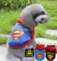 XXL Pet Puppy Dog Doggie superman  Warm Clothes bat man  Apparel Costume fleece sweater Top T Shirt  Free shipping&DropShipping