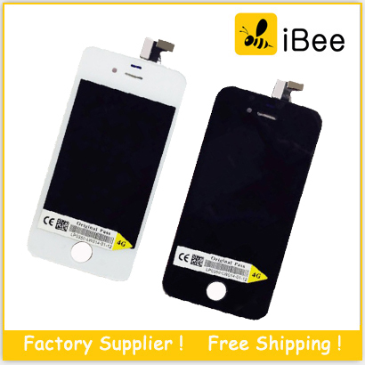 50pcs/lot LCD Display touch screen with digitizer replacement parts for iPhone 4 4S CDMA , Free DHL Shipping(China (Mainland))