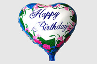 Happy Birthday balloons heart shaped letters and flower printed for Birthday party decorations