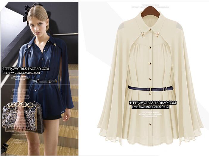 R009 tamanho SML XL XXL Big Europa e da moda 2014 mulheres americanas de alta qualidade blusa frete grátis quente na venda de marinha branco topo(China (Mainland))