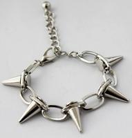 Hot sale 2014 NEW fashion European Punk Style Rivet Multilayer Bracelets Bangles for Women man Fashion Jewellery