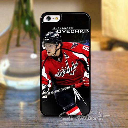 Customized Alexander Ovechkin Washington Capitals Hockey Hard Plastic Back Case for Apple iPhone 4 4s 5 5s 5C 6 6 Plus(China (Mainland))