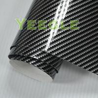 1.52x30M 5x98FT High Quality Air Free 2d carbon fiber vinyl black Free Shipping
