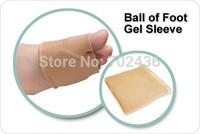 Ball of Foot Gel Sleeve painful metatarsal heads Morton neuromas atrophy pad flat splay foot pressure relief calluses feet care