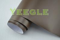 1.52x30M 5x98FT Low Price Durable  brown matt vinyl film Free Shipping